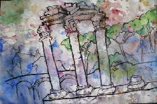 Works On Paper - THREE COLUMNS - THE FORUM - ROMA