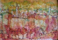 Works On Paper - WALLS OF FEZ - MOROCCO